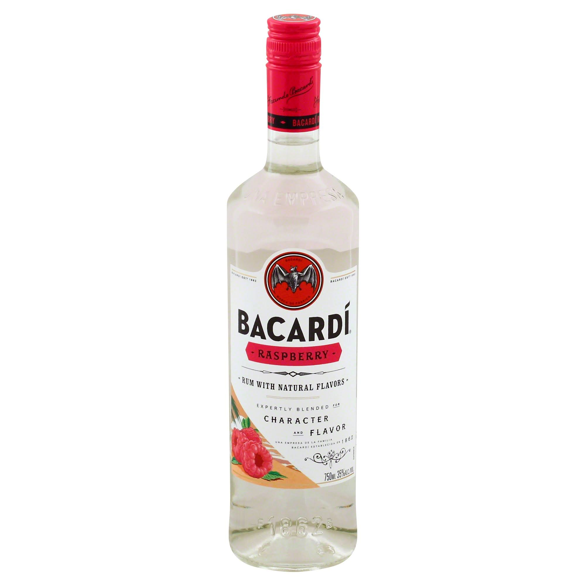 Bacardi Rum, Raspberry - 750 ml
