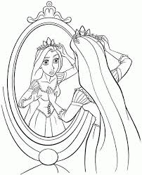 Disney Princess Rapunzel Colouring Pages Free Printable For