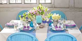 Ideas On Dining Amazing Simple Spring Table Decorations Of Latest Decoration Donut Let And Flower Easter Centerpieces For Jpg