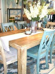 Farmhouse Table The Wall Custom Built Solid Wood Modern Dining Furniture
