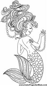 Mermaid Adult Coloring Pages For Vintage Adults