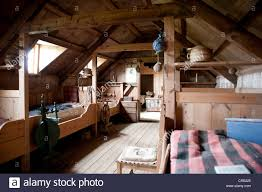 Living In The Middle Ages Interior View Wooden Furniture Old Sod House