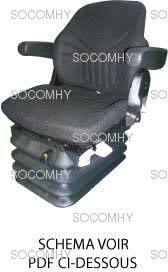 siege de tracteur siège tracteur tissu pneumatique grammer msg95g 721
