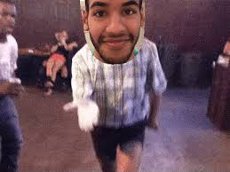 A GIF Showing Man Dancing In Club My Face Has Been Superimposed Over