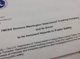 100 All State Trucking A Division Of The US Department Of Transportation Orders Tumwater