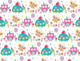1 Sheet Owl Birthday Gift Wrap Wrapping Paper Girls Childrens