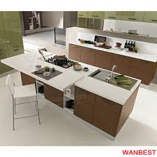 Modern Marble Top Modular Kitchen Cabinet Island Bench Countertop Dining Table