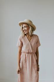 Mauve Striped Max Dress