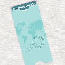 Map Boarding Pass Travel Pouch Envelope