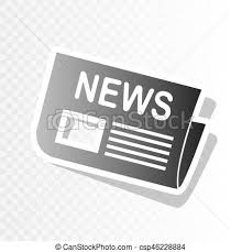 Newspaper Sign Vector New Year Blackish Icon On Transparent Background With Transition