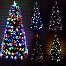 LED Fibre Optic Christmas Tree Various Design Lightings Pre Lit Home Decorations
