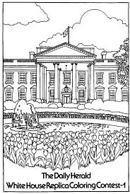 Amazing White House Coloring Page 94 For Site With