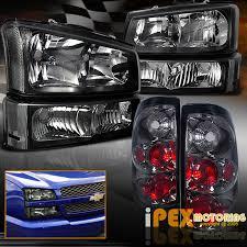 black 2003 2006 chevy silverado 1500 2500 headlights signal