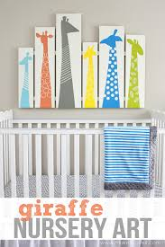 Sweet And Fun Diy Nursery Decor Design Ideas Easy Wall Art Projects For Adults Giraffe