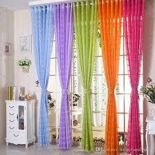 großhandel gardinen wohnzimmer vorhänge elegante vorhang sheer window screening kurze mode stanzen gaze 42w 50w 72w multi farben 1 panel