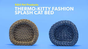 Kh Thermo Kitty Heated Cat Bed by K U0026h Pet Products Thermo Kitty Fashion Splash Cat Bed Mocha