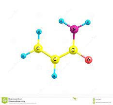 Download Acrylamide Molecule On White Stock Illustration