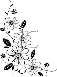iCLIPART Royalty Free Clipart Image of a Flower Corner