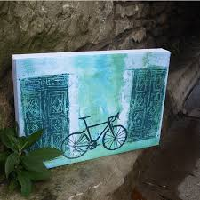 D C Hill bike canvas print cycle t vintage look rusty colour