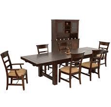 Modesto Rustic Mahogany Dining Table China Cabinet Set