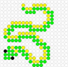 Halloween Perler Bead Patterns by Slang Snake Hama Perler Beads Pattern Pärlor Pinterest