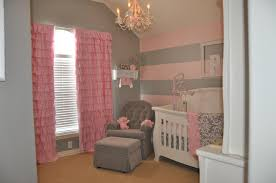 Yellow And White Curtains For Nursery by Peyton U0027s Pink And Gray Nursery Pink Striped Walls Nursery Gray