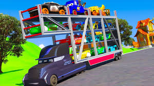 McQueen Cars 3 Mack Truck Hauler Jackson Storm Gale Beaufort Car ...