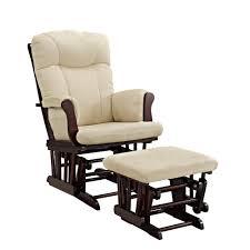 Childrens Rocking Chairs At Walmart by Angel Line Monterey Glider And Ottoman Espresso W Beige Cushion