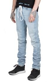 off white diagonal spray jeans in blue autograph menswear
