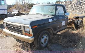 100 Ford Truck 1979 F350 Custom Pickup Truck Cab And Chassis Item I5