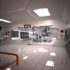 3ds Max Futuristic Sci Fi Laboratory Cool Image I