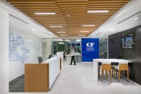 Reception At Cadillac Fairview Office Interior Design By SSDG Interiors Inc