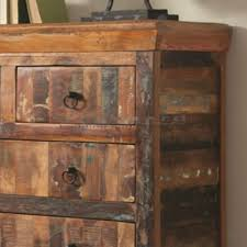 Get Additional Storage In Your Living Room With The Coaster Rustic 4 Drawer Reclaimed Wood Accent