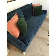 West Elm Bliss Sofa Bed by West Elm Bliss Sleeper Sofa In Velvet Chairish
