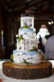 Mountain Wedding Cake Rustic