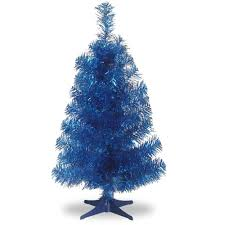 Unlit Artificial Christmas Trees Made In Usa by National Tree Unlit 2 U0027 Tinsel Wrapped Artificial Christmas Tree