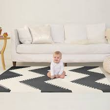 amazon com skip hop geo black white playspot foam floor tile