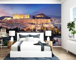 fototapete gebäude im griechischen stil fototapeten tapete wandbild griechenland landschaft m5964
