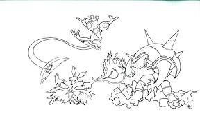 Coloriage Pokemon Pikachu Entrain De Rigoler Dessin