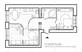 100 House Design Project Architectural Plan Of A House Layout Of The Apartment Top View