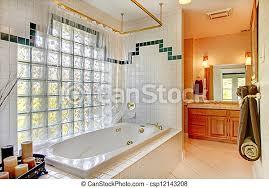 wand tub badezimmer glas canstock