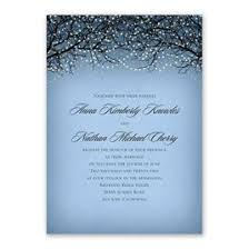 Blue Wedding Invitations Fairytale Sky Foil Invitation