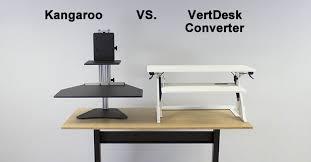 Kangaroo Standing Desk Dual Monitor by Ergo Desktop Kangaroo Vs Vertdesk Converter Which Is Better