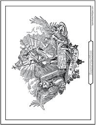 Jesus Resurrection Coloring Page Angel Soldiers Alleluia