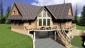100 Garage House Log With Garage 3D CGTrader