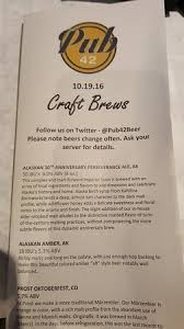 Craft Beer menu Picture of Pub 42 New Hope TripAdvisor