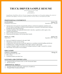 Truck Driver Resume Example Objective Driving