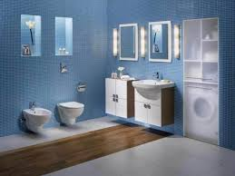 bathroom small bathroom design ideas with blue bathroom wall