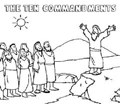 10 Commandments Coloring Page Free