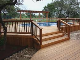 Above Ground Pool Deck Images by 42 Above Ground Pools With Decks U2013 Tips Ideas U0026 Design